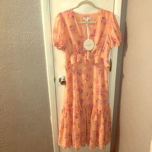 LOVESHACKFANCY Melon Midi Fleur Dress Sz 4 & Sz 10